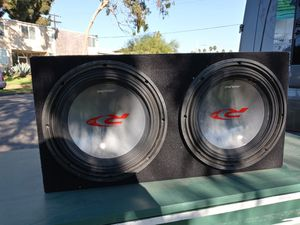 2 Type R Alpine 12 inch Subs with Alpine Amplifier for Sale in Los Angeles, CA