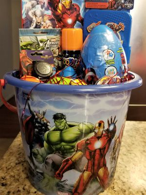 Marvels Avengers Easter Basket for Boys - This is a great super hero basket! for Sale in Fort Washington, MD