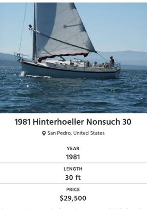 1981 Hinterhoeller Nonsuch 30 - 7064947 for Sale in Los Angeles, CA