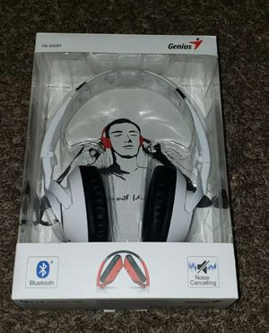 Genius White HS-930 BT Wireless Bluetooth V4.0 Headset, White for Sale in Fort Lauderdale, FL