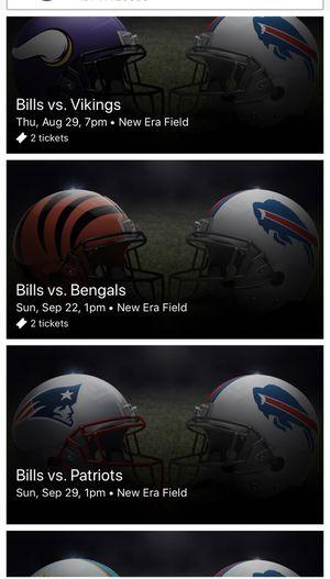 Bills vs Patriots for Sale in Buffalo, NY