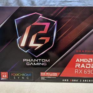 ASRock Radeon RX 6900 XT PHANTOM GAMING D Graphics Card 16GB GDDR6, AMD RDNA2 (RX6900XT PGD 16GO) for Sale in Jacksonville, FL