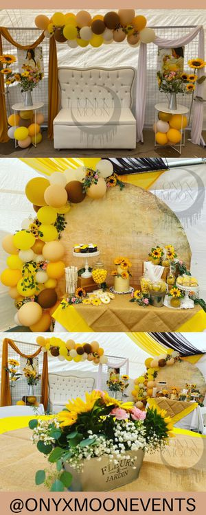 Sunflower Party Baby Shower Decorations setup Candy Table for Sale in Fullerton, CA