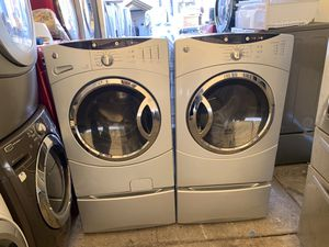 GE Front load electric washer dryer with 3 months free delivery and installation warranty for Sale in Oakland, CA