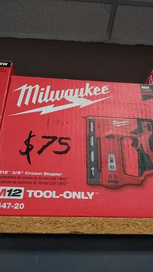 MILWAUKEE crown stapler for Sale in Moreno Valley, CA