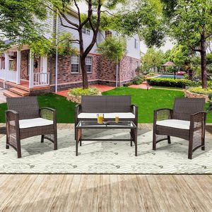 Brown Wicker Patio Set with Cushions Home Outdoor Furniture for Sale in Los Angeles, CA