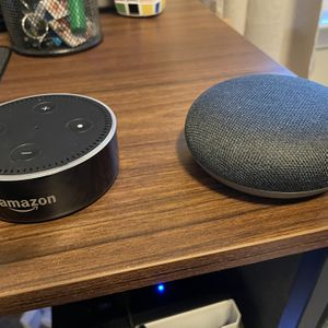 Amazon Echo Dot & Google Home Mini. $15 Each Or $25 For Both for Sale in Fairview, TN