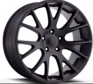 "22"" DODGE HELLCAT Rims Package New Replica Wheels & Tires ANY FINISH • Machine Black • Gloss Black • Matte Black <<<Rims & Tires Only $1299>>> for Sale in Westminster, CA"