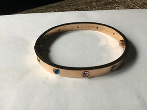 Cartier 18k Rose Gold Love Bracelet with Colored Gems size 16 for Sale in Hudson, NH