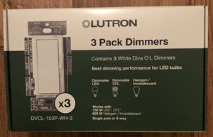 Lutron Diva CL Dimmers 3 Pack. White. for Sale in Los Angeles, CA