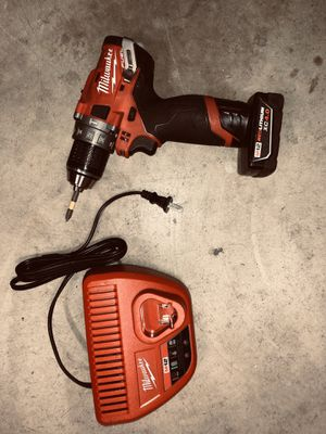 Milwaukee M12 Fuel Brushless Hammer Drill KIT with XC 4.0 Battery & Charger for Sale in Fontana, CA
