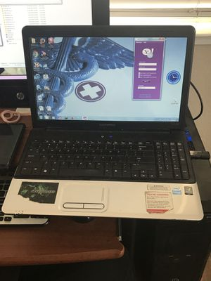 Used HP Compaq Presario Laptop ... Brand New Battery Comes with Charger has a CD slot - plays 📀 See Pictures for Specs Computer has been C for Sale in Littlerock, CA