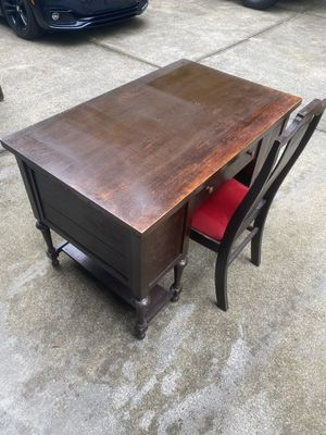 Old Antique Desk & Chair $ 225 for Sale in Raleigh, NC
