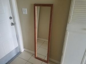 Wood Framed Rectangular Mirror 51 X 14.5 for Sale in Margate, FL