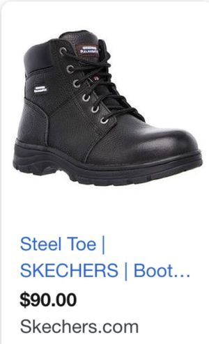 Steel toe sketchers size 8 black work boots New in the box for Sale in Marysville, WA