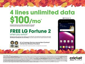 Free LG Fortune 2 when you switch for Sale in Rowlett, TX