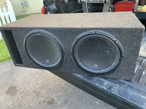 2 JL Audio 12W3v3-2 Subwoofers with Dual Enclosure for Sale in Chantilly, VA