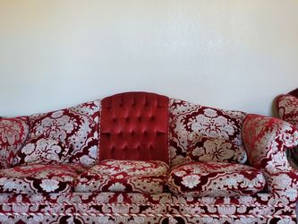 Red Velvet Imported Italian Sofa Set for Sale in San Diego,  CA