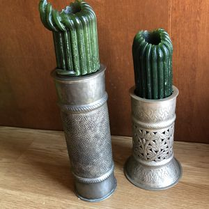 Candle Holders Candlesticks Pair Hammered Metal India for Sale in Sandy, UT