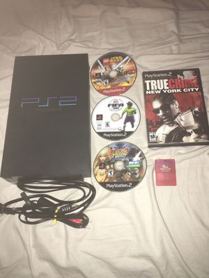 Ps2 with games no controllers for Sale in Waterbury, CT