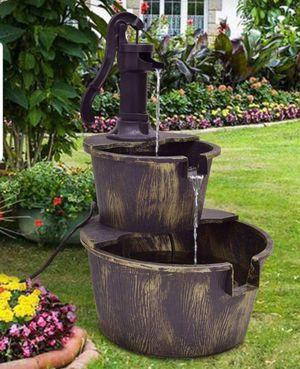 Backyard Fountain Waterfall In Barrel Design Patio Garden Lawn Lanai for Sale in Orlando, FL