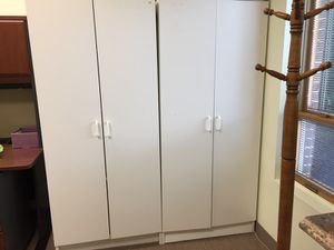 White 6' free- standing cabinets for Sale in Freehold, NJ