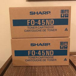 Sharp Toner Cartridge FO-45ND Set Of 2 Color Blk New For Fax Machines for Sale in Clermont,  FL