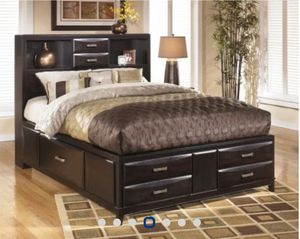 reply   ⚐ Dark Wood Storage Bedroom Set w/Dresser AND Ultra Plush Mattress-$2,000 for Sale in Columbus, OH