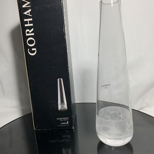"Gorham 9"" River Rock Bud Crystal Flower Vase for Sale in Belleville, NJ"