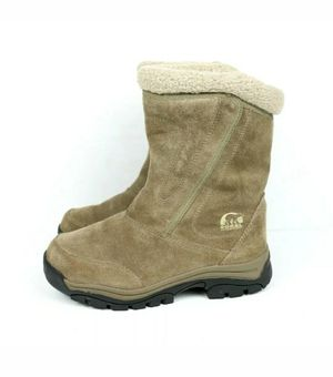 Sorel Waterfall Womens Tan Suede Zip Thinsulate Insulation Boots NL1964-250 Sz 6 for Sale in Weston, FL