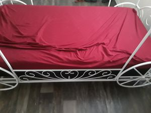 Twin Carriage bed frame and mattress together for Sale in Orange Park, FL