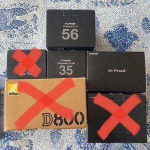 Fuji Xpro2, Fuji 56mm 1.2, Fuji 35mm F2 for Sale in Los Angeles, CA