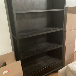 Urban Home Black Wood Bookcase for Sale in Los Angeles, CA