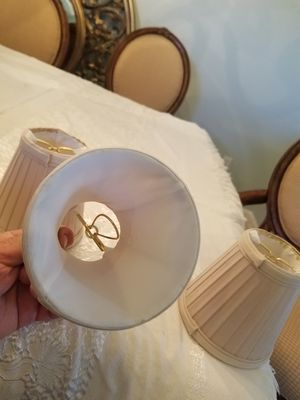 Lamp shades for chandelier 6 , ike new for Sale in Wellington, FL