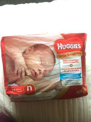 Huggies Diapers Size Newborn for Sale in Everett, WA
