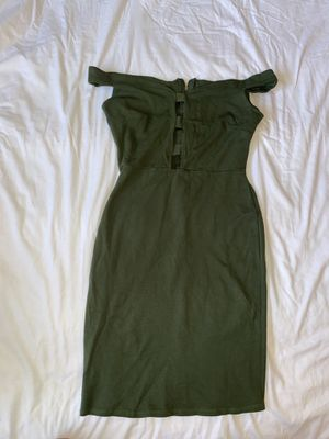 Olive green tight dress for Sale in Visalia, CA