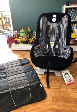 Car seat. Booster seat. Britax. Britax car seat. Britax roundabout 50. Eddie Bauer Eddie Bauer seat protector. for Sale in Spokane, WA