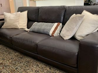 Brown Leather Couch Set for Sale in Hialeah,  FL