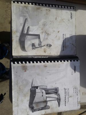 Crown service manual and parts manual forklift pallet jack for Sale in Los Angeles, CA