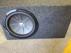 "Brand New Kicker 12"" comp R subwoofer with Metra sub enclosure for Sale in Aurora, CO"