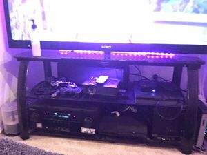 Entertainment Black Glass TV stand for Living or Bed room for Sale in Las Vegas, NV