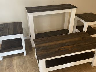 Farmhouse furniture set! Coffee table, entryway table, and 2 side tables.. Just built for Sale in Tampa,  FL
