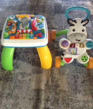 Baby table and walker for Sale in Fontana, CA