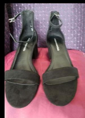 Shoes Black Open Toe low Heals. Size 9.5 (9M). Box says 9 but fits a 9.5 for Sale in Miramar, FL