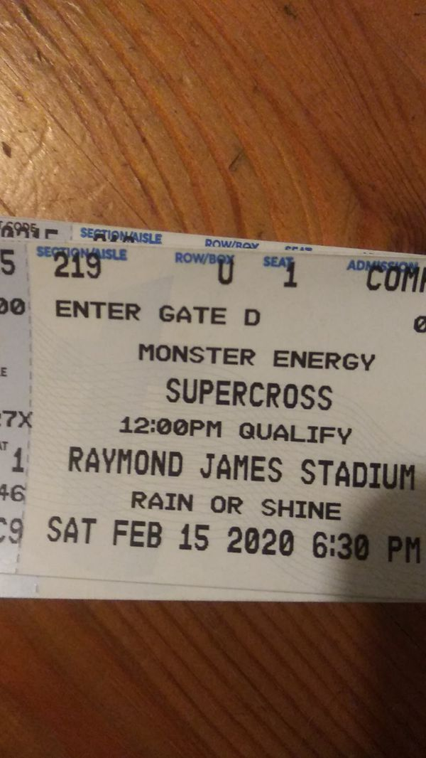 Monster Energy Supercross $25 each section 219 less than Ticketmaster