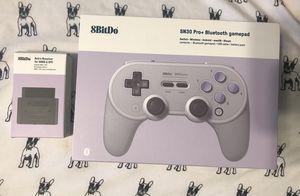 8BitDo SN30 Pro+ and SNES Retro Receiver Super Nintendo Retro Games for Sale in Newton, KS