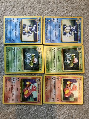 Lot of Base Set Pokemon Starter Evolutions for Sale in Covington, WA