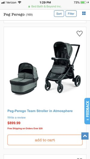 Peg Perego stroller and bassinet for Sale in Matthews, NC