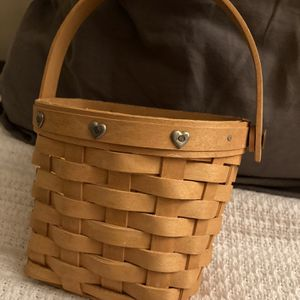 Longaberger Small Basket With Hearts for Sale in Upland, CA