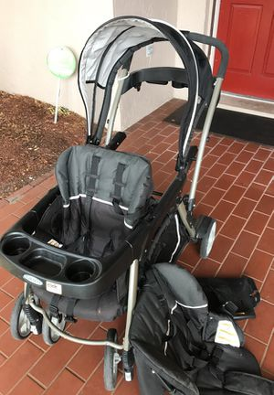 Graco double stroller sit and ride for Sale in Tampa, FL